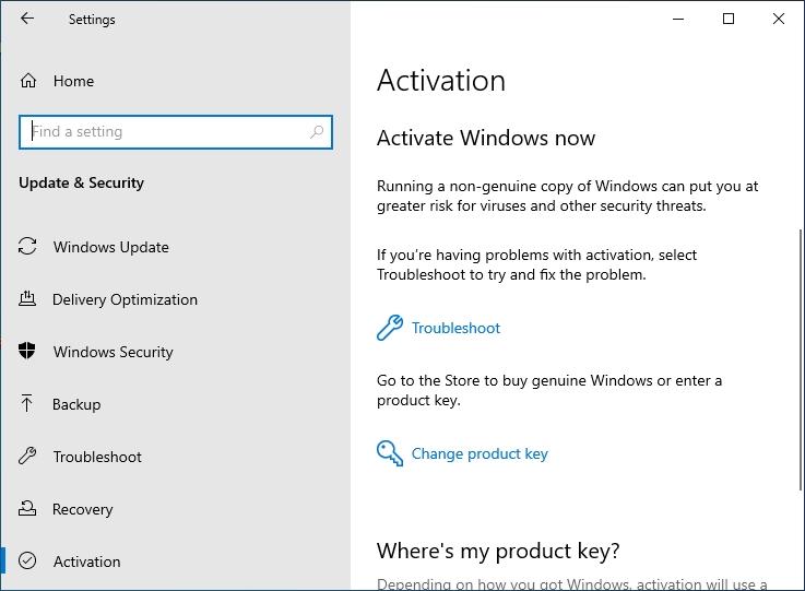 activate windows now