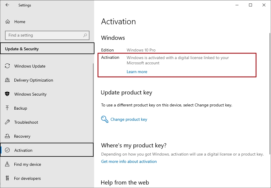 Windows is not activated