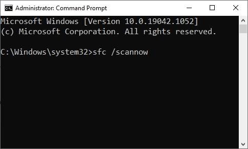 CMD - scannow