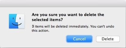 Confirm delete immediately Mac