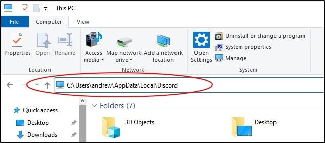 Discord update file location