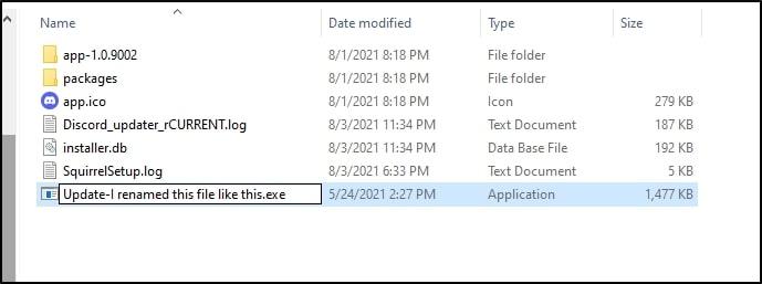 Rename Discord update file