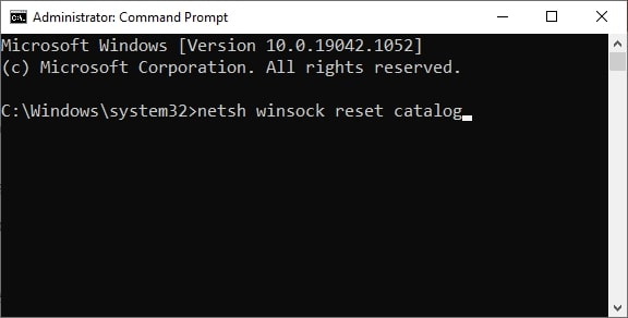 Network reset command in CMD