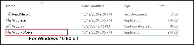 Windows update blocker files